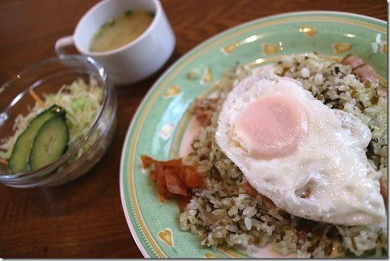三和珈琲館の高菜ライス