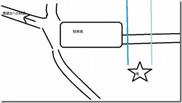 白糸の滝から展望台へのアクセスマップ