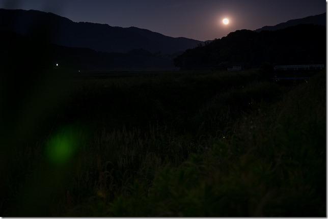 糸島、月とホタル