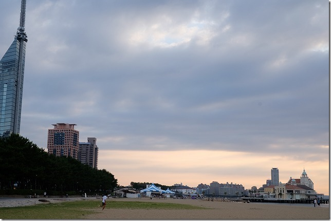 TNC夏祭り、百道の海