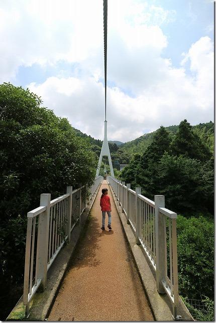 糸島、ゆらりんこ橋を渡る