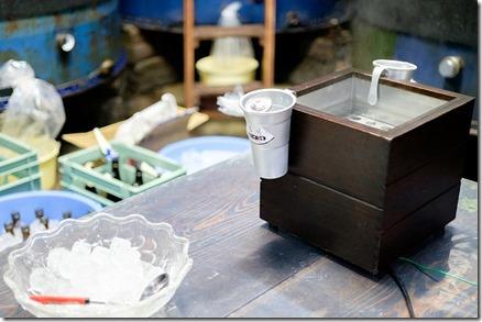 糸島、白糸酒造の角打ちは熱燗も対応