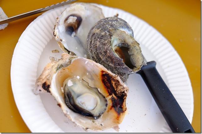 糸島牡蠣小屋、福吉漁港・伸栄丸(佐々木)の焼き牡蠣