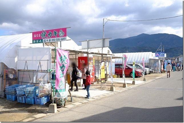 糸島牡蠣小屋、福吉漁港・伸栄丸(佐々木)