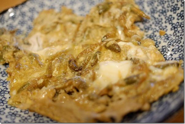 糸島のツクシの卵とじ