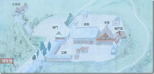 櫻井神社の境内案内図