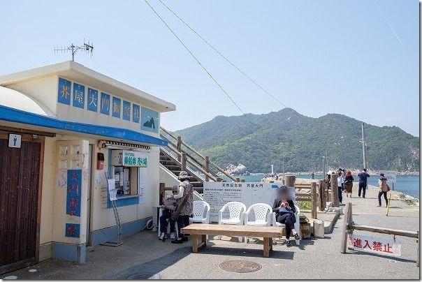 糸島、芥屋大門遊覧船の乗車口