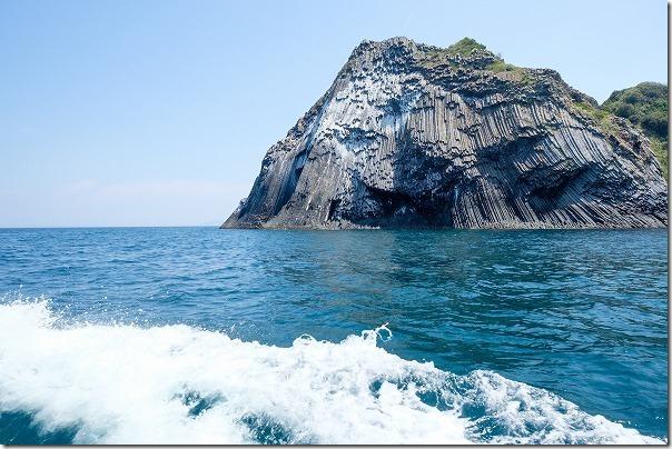 糸島、海から芥屋大門