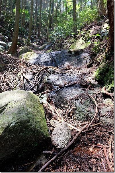 子供と飯盛山の登山、水場