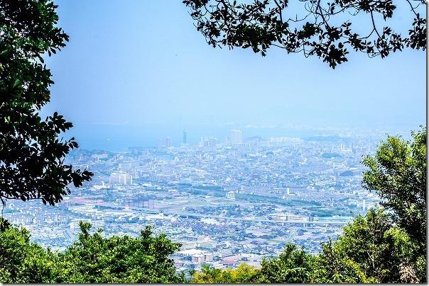 飯盛山頂上からの景色