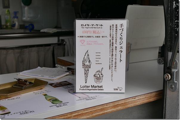 糸島芥屋のロイターマーケットでジェラートの値段