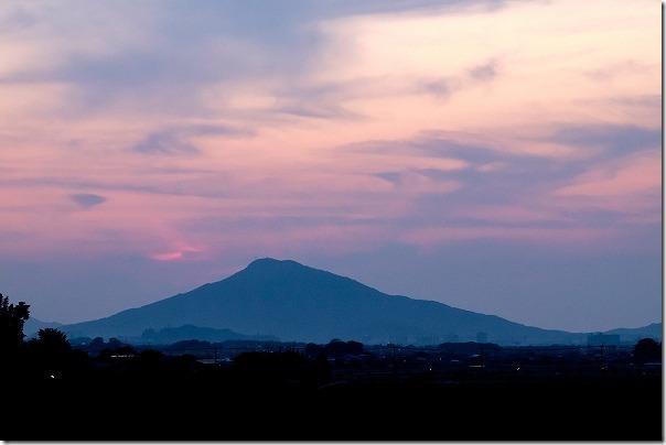 糸島の夕焼け、糸島富士