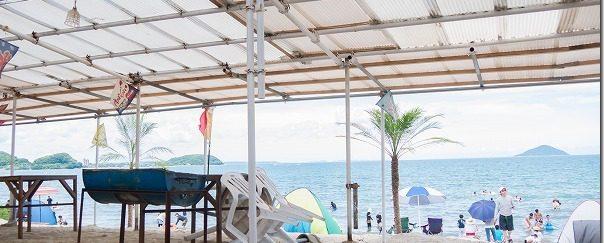 糸島の海、海水浴