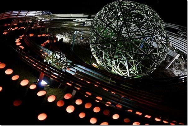 いきみないと祭り2018の竹の灯籠