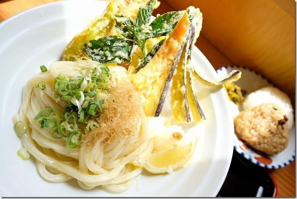 野菜天盛りぶっかけ、糸島、白糸うどん
