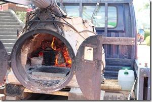 糸島ハンドメイドフェスティバルで食事、ピザ窯