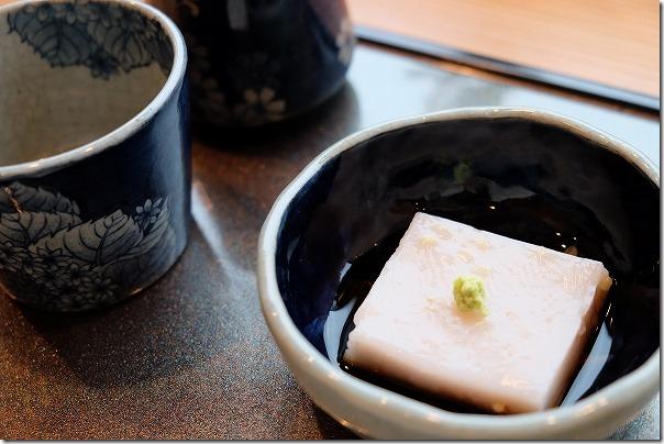 糸島市二丈福井にあるお蕎麦屋さん「すみくら」蕎麦豆腐