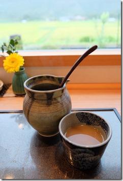 糸島市二丈福井にあるお蕎麦屋さん「すみくら」の蕎麦湯