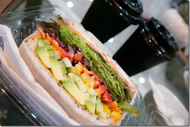西の丘のEffect(エフェクト)内のカフェ手作りサンドイッチ