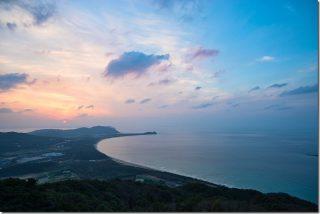 糸島 火山からの夕日