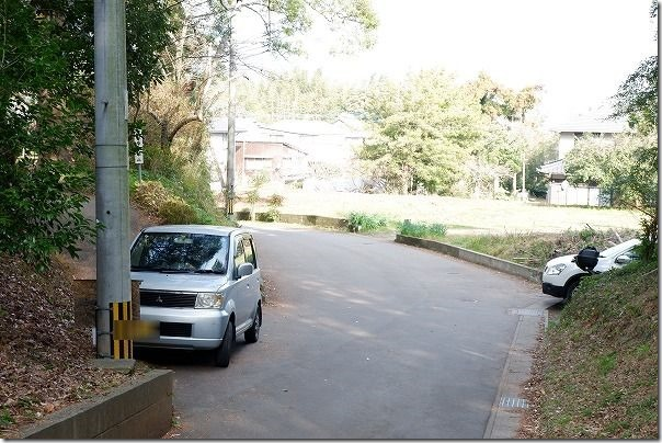 糸島,神在神社の駐車場
