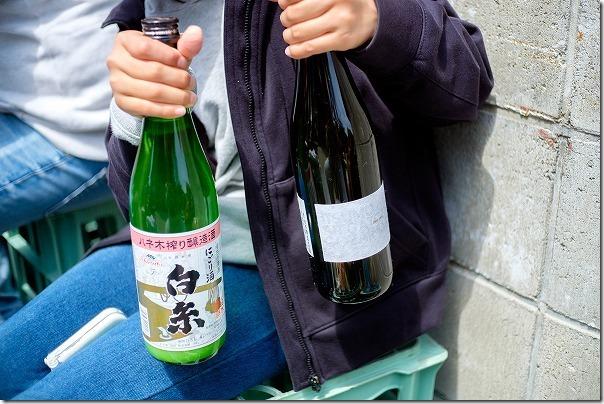 白糸酒造の蔵開き,濁り酒、田中六五