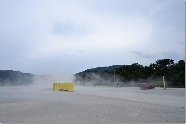糸島の大きなブランコの駐車場、ジハングン