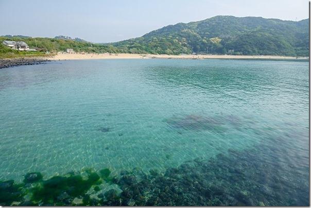 糸島,芥屋海水浴場の透明度の高い海