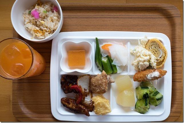 糸島食堂ほもりの、バイキングの料理