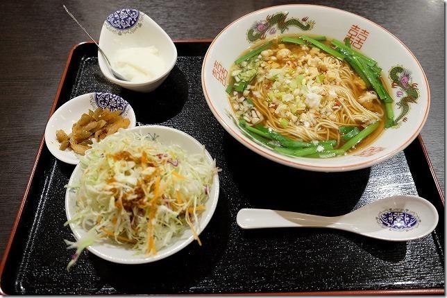 糸島・中華料理、香香、台湾ラーメンとミニ玉子炒飯セット