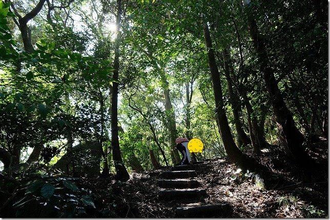 可也山登山,登山道,糸島,階段