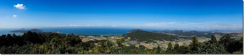 糸島,可也山山頂展望台からのパノラマ