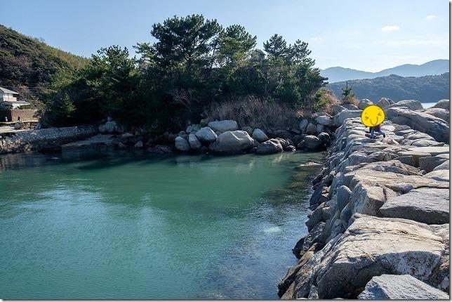 糸島、箱島の防波堤