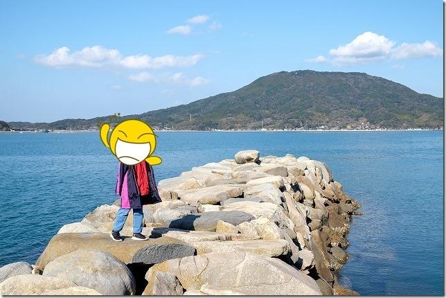 箱島・箱島神社から可也山(糸島富士)