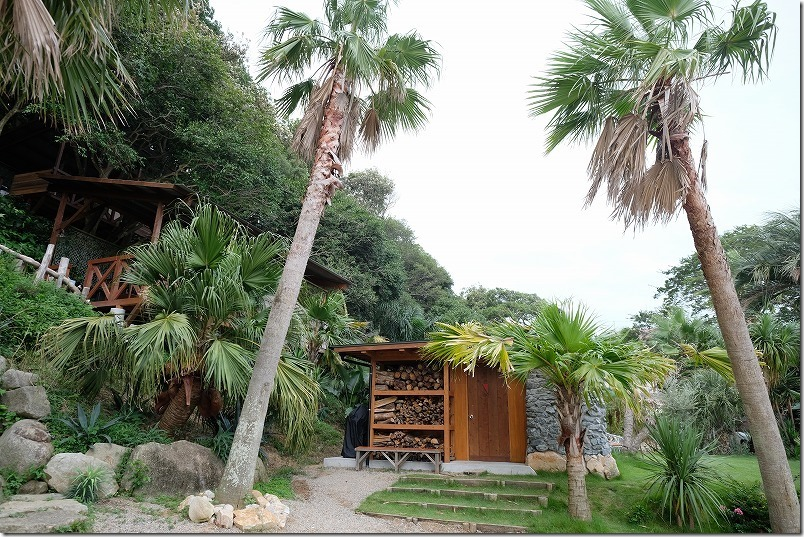 糸島でキャンプ、HIDEAWAY、sunset、campのトイレ、シャワー