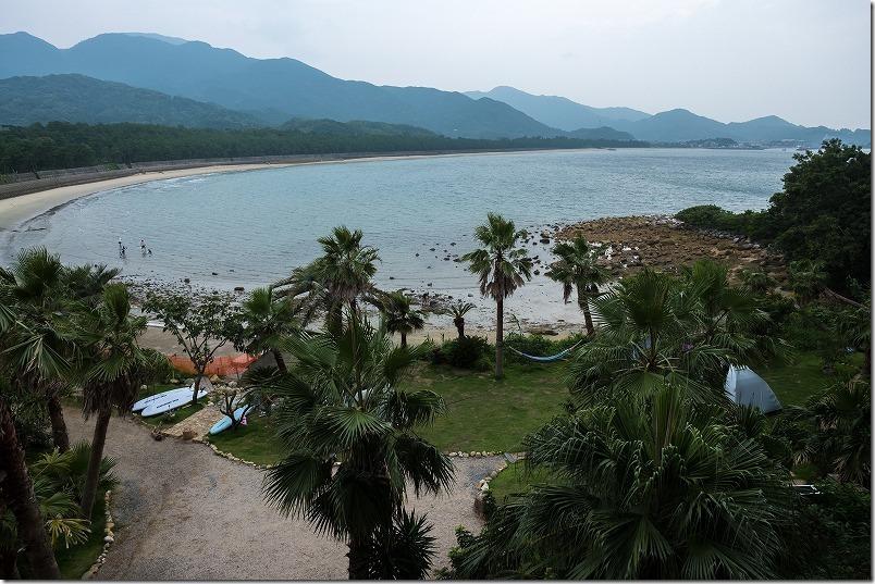 糸島でキャンプ、HIDEAWAY、sunset、campの海