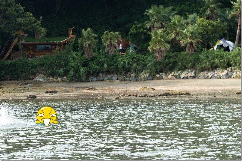 糸島でキャンプ、HIDEAWAY、sunset、campの海水浴
