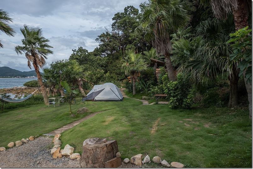 糸島でキャンプHIDEAWAY,sunset,campの持ち込みテントサイト