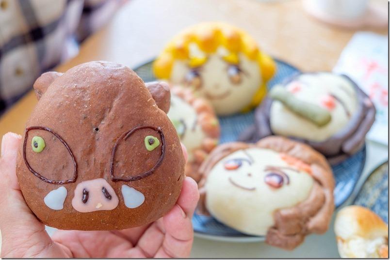 糸島市、童夢の森のパン屋さん、鬼滅の刃パン、伊之助