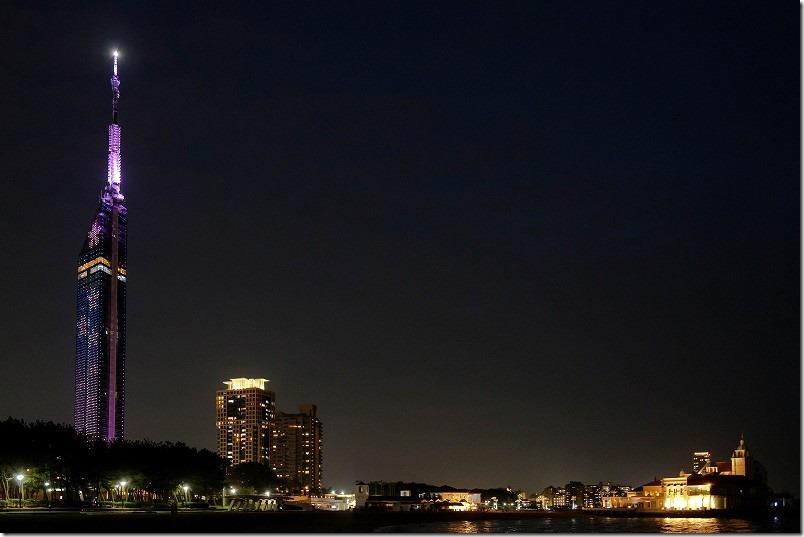 福岡タワーの夜桜