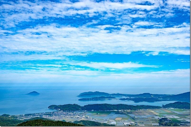 糸島、はろ展望台からの見晴らし