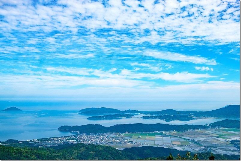 糸島、いきさん展望台からの展望