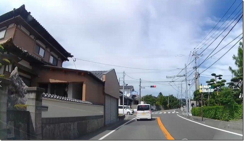 糸島・千寿院の滝へのアクセス・道(石崎交差点)