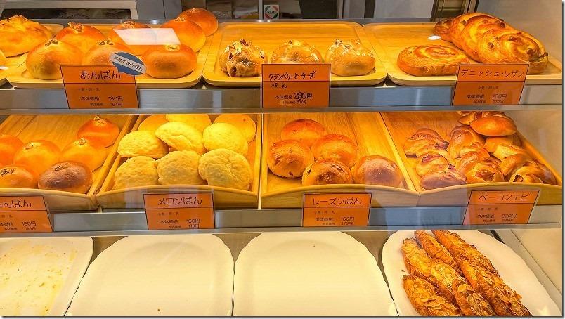 ブーランジュリーベル・エキプのパンの種類、価格