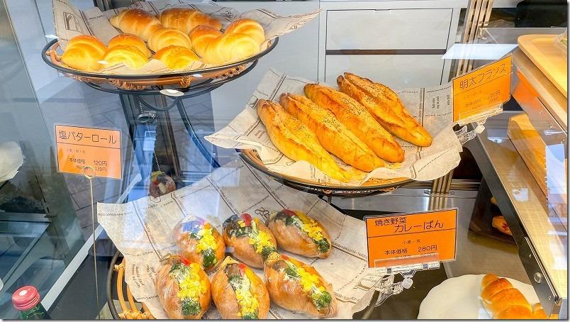 ブーランジュリーベル・エキプのパン、明太フランスやカレーパンなど