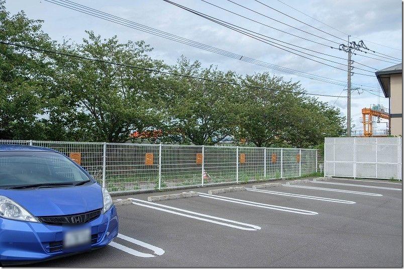 糸島フリフリチキンの駐車場、コスモス