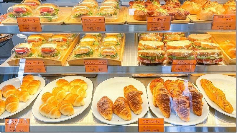 ブーランジュリーベル・エキプのパン、ハンバーガーや食欲をそそるパン