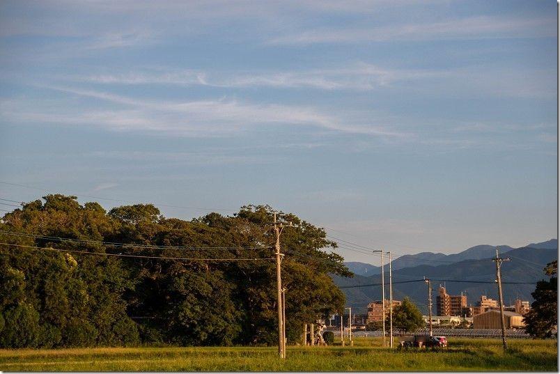 秋分の志登神社(糸島市志登)の駐車場
